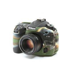 Protezione custodia in silicone EasyCover camera case per Nikon D7100 D7200 Camouflage