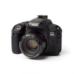 Custodia protettiva EasyCover camera case morbido in silicone per Canon 800D Nero