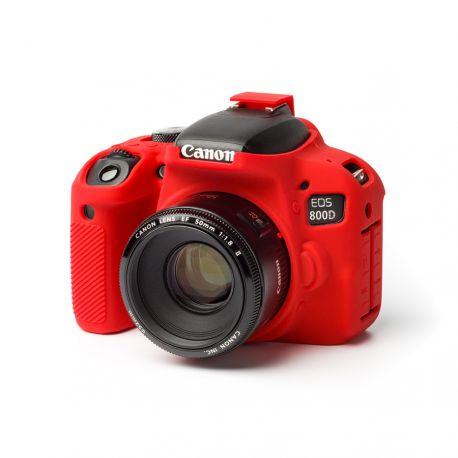 Custodia protettiva camera case EasyCover in silicone morbido per Canon 800D Rosso