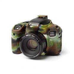 Custodia protettiva camera case EasyCover in morbido silicone per Canon 800D Camouflage