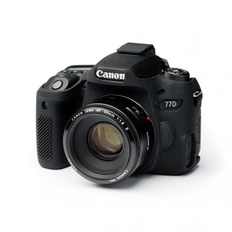 Custodia protettiva camera case in morbido silicone EasyCover per Canon 77D Nero