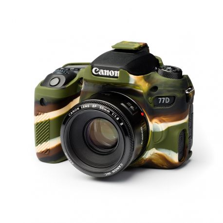 Custodia protezione soft camera case in silicone EasyCover per Canon 77D Camouflage