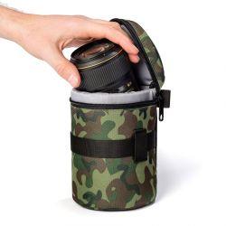 EasyCover borsa custodia protettiva lens bag per obiettivo dimensioni 80x95mm camouflage