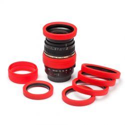 Anello paraurti per obiettivo in silicone EasyCover lens rim protettivo 52mm rosso