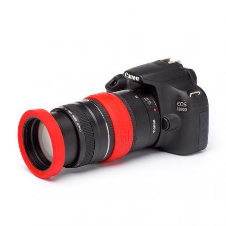 Lens rim in silicone EasyCover anello paraurti per obiettivo protezione 72mm rosso
