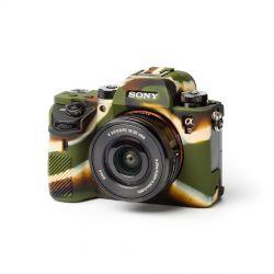 Protezione in silicone EasyCover custodia morbida camera case per Sony A9 Camouflage