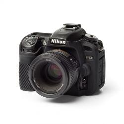 Custodia soft protezione in silicone EasyCover camera case morbido per Nikon D7500 Nero