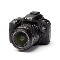 Custodia protezione EasyCover camera case morbido in silicone per Canon 200D Nero