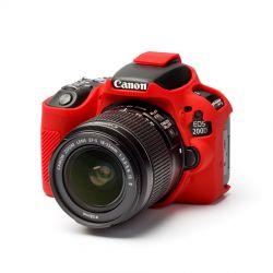 Camera case morbido EasyCover custodia protezione in silicone per Canon 200D Rosso