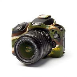 EasyCover camera case morbido custodia protezione in silicone per Canon 200D Camouflage