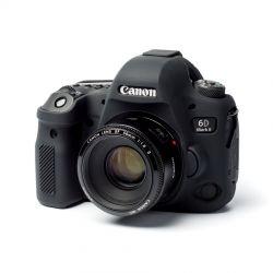 Custodia soft in silicone morbido EasyCover camera case per Canon 6D Mark II Nero