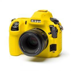 Protezione custodia soft EasyCover in silicone morbido camera case per Nikon D850 Giallo