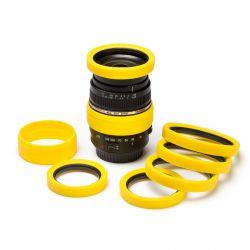 Lens rim protettivo EasyCover anello paraurti per obiettivo in silicone 58mm giallo