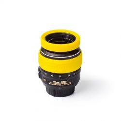Anello paraurti in silicone EasyCover lens rim protettivo per obiettivo 77mm giallo