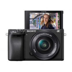 Fotocamera Sony Alpha A6400 Kit 16-50mm f/3.5–5.6 PZ OSS Nero [MENU ENG]
