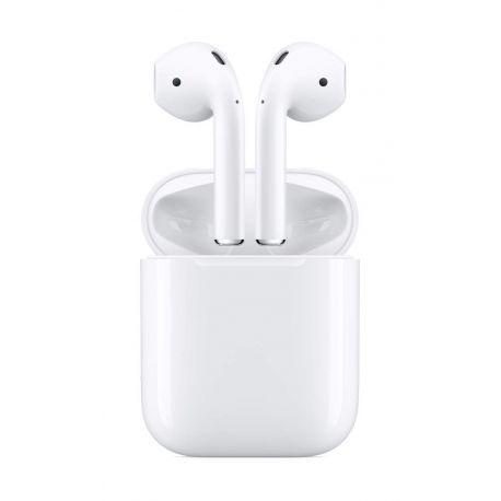 Apple AirPods 2 cuffiette auricolari per iphone con custodia di ricarica (no wireless)