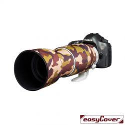 Easycover custodia in neoprene marrone camo per obiettivo Canon 100-400mm F4.5-5.6L IS II USM V2 Lens Oak