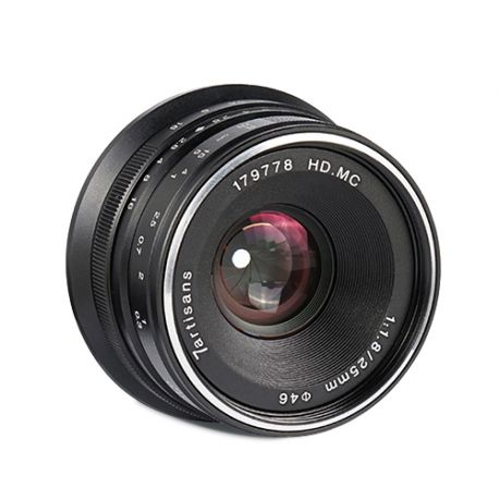 Obiettivo grandangolare 7Artisans 25mm F1.8 per fotocamere mirrorless Sony con attacco E e formato APS-C