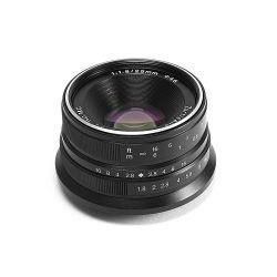Obiettivo grandangolare 7Artisans 25mm F1.8 per fotocamere mirrorless Canon attacco EF-M