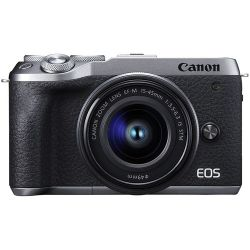 Fotocamera Mirroless Canon EOS M6 Mark II kit 15-45mm IS STM Silver