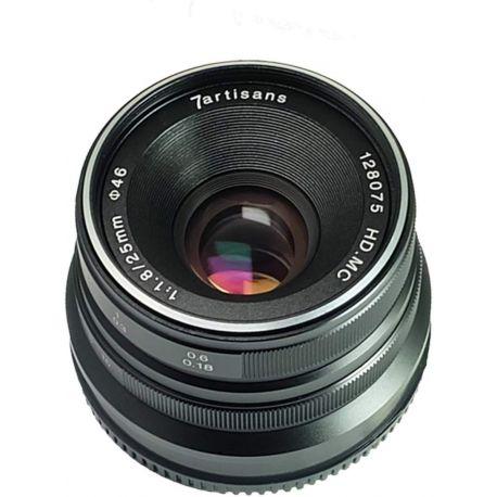 Obiettivo 7Artisans 25mm F1.8 per fotocamere Panasonic e Olympus attacco Micro M4/3