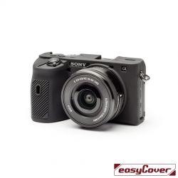 easyCover custodia protettiva in silicone per Sony A6600 nero