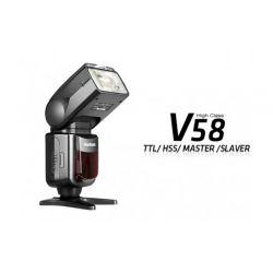Voeloon Flash V58 TTL tipo Yongnuo per Nikon