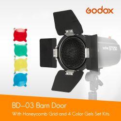 "Phottix Barndoors alette + gel colorati + griglia per riflettori 7"""