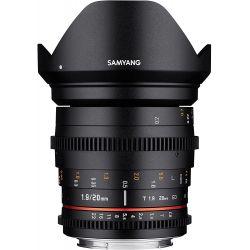 Obiettivo Samyang 20mm T1.9 ED AS UMC Cine per Canon