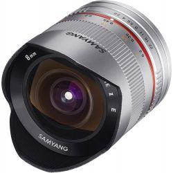 Obiettivo Fisheye Samyang 8mm f/2.8 Argento per Fujifilm X