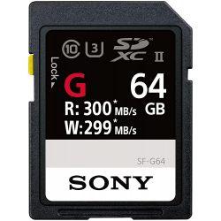 Scheda di memoria SD Sony 64GB 300MB/s - SF-G64 SDXC Classe 10 UHS-II U3