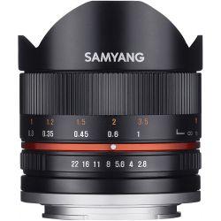 Obiettivo Samyang 8mm f/2.8 Fish-eye CS II nero compatibile Canon EOS M