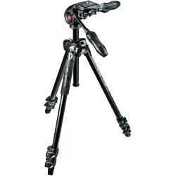 Manfrotto LIGHT Kit 290 treppiede in alluminio + testa a 3 vie
