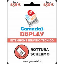 Garanzia Display 12 mesi con massimale di copertura fino a 150 euro - GARANZIA3 DISPLAY