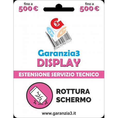 Garanzia Display 12 mesi con massimale di copertura fino a 500 euro - GARANZIA3 DISPLAY