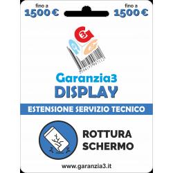 Garanzia Display 12 mesi con massimale di copertura fino a 1500 euro - GARANZIA3 DISPLAY