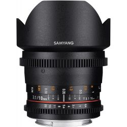 Obiettivo Samyang 10mm Cine T3.1 VDSLR ED AS NCS CS II Compatibile Nikon