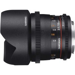Obiettivo Grandangolare Samyang 10mm Cine T3.1 ED VDSLR AS NCS CS II Compatibile Sony E