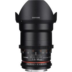 Obiettivo Samyang 35mm T1.5 AS UMC VDSLR Mark II compatibile Nikon