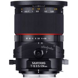 Obiettivo Samyang T-S 24mm f/3.5 ED AS UMC compatibile Sony E-mount