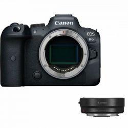 Fotocamera Mirrorless Canon EOS R6 corpo macchina + adattatore EF-EOS R