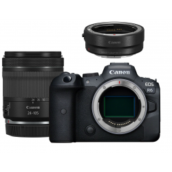 Fotocamera Mirrorless Canon EOS R6 kit 24-105mm f/4-7.1 IS STM + adattatore EF-EOS R