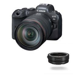 Fotocamera Mirrorless Canon EOS R6 kit 24-105mm f/4L + adattatore EF-EOS R
