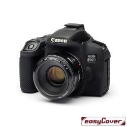 easyCover custodia protettiva in silicone camera case per Canon 850D nero