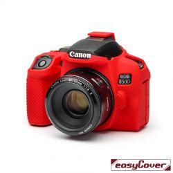 easyCover custodia protettiva in silicone camera case per Canon 850D rosso