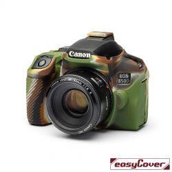 easyCover custodia protettiva in silicone camera case per Canon 850D mimetico