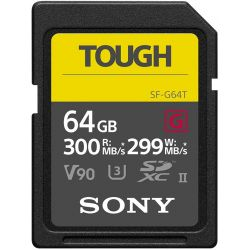 Sony SF-G64T Tough scheda di memoria 64GB 300mb/s SDXC UHS-II