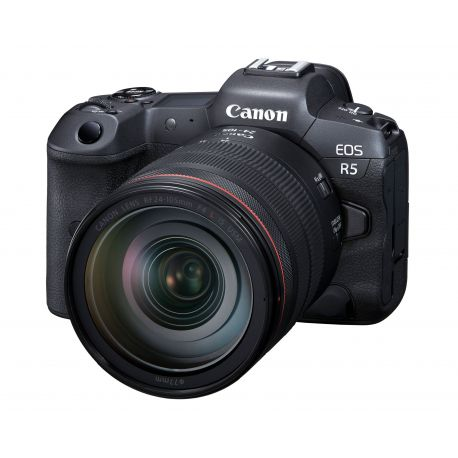 Fotocamera Mirrorless Canon EOS R5 Kit RF 24-105mm f/4L + adattatore EF-EOS R
