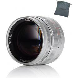 Obiettivo 7Artisans 50mm F1.1 silver compatibile mirrorless Leica M (A401S)