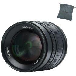 Obiettivo 7Artisans 55mm F1.4 APS-C nero compatibile fotocamere micro 4/3 (A504B)